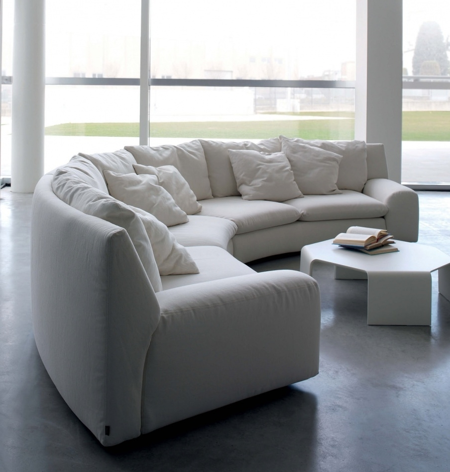 Well Known The Semicircular Sofa In Fabric Ben Ben, Arflex – Luxury Furniture Mr Regarding Semicircular Sofas (View 20 of 20)