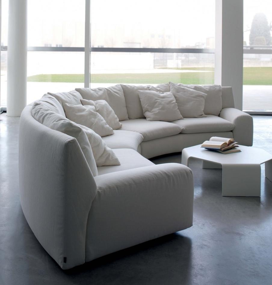 Well Known The Semicircular Sofa In Fabric Ben Ben, Arflex – Luxury Furniture Mr Regarding Semicircular Sofas (View 6 of 20)