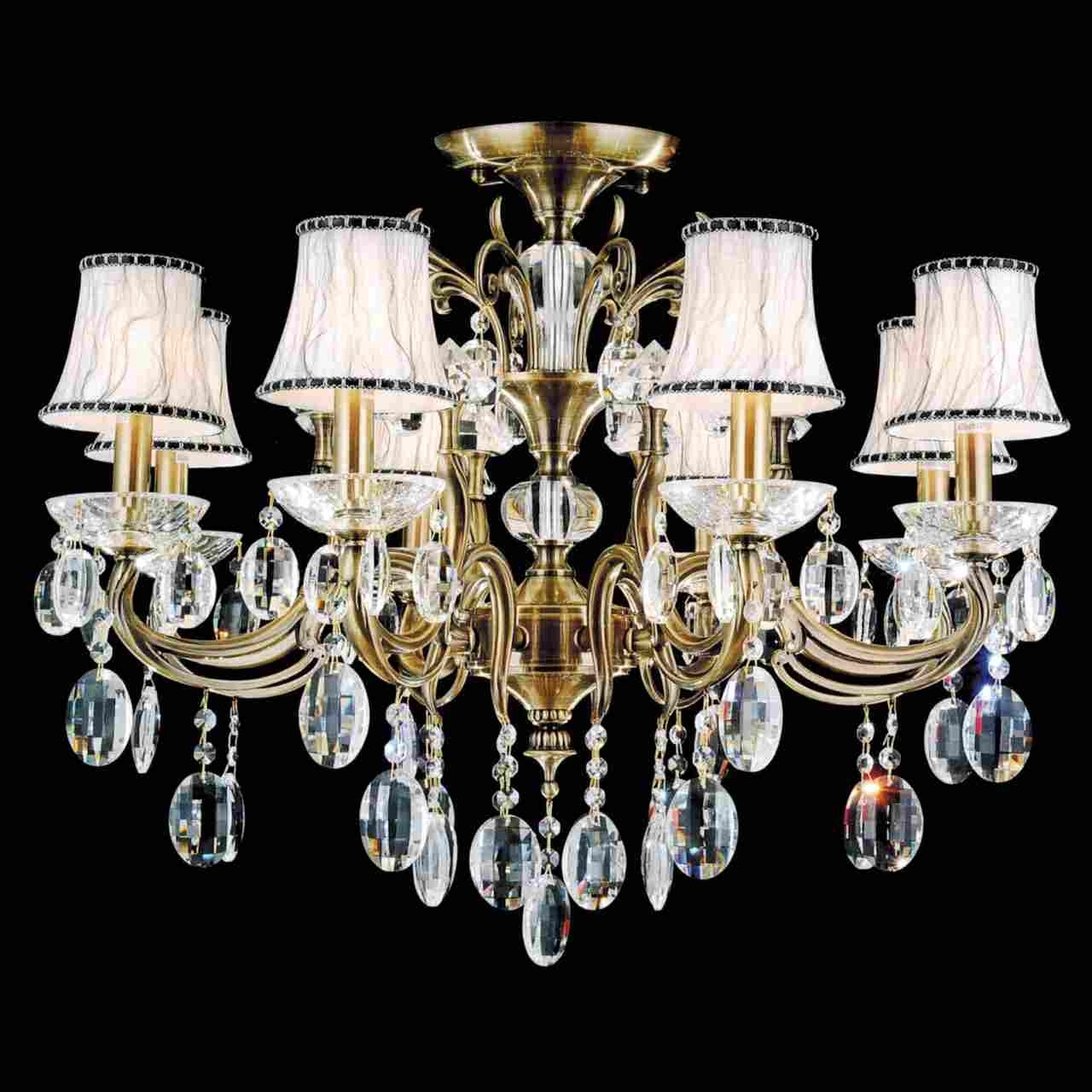 Well Known Traditional Crystal Chandeliers Intended For Brizzo Lighting Stores (View 6 of 20)
