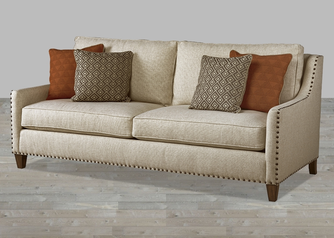 Well Known Traditional Fabric Sofas In Modern Traditional Hemp Fabric Sofa With Huston's Arroyo Finish (View 12 of 20)