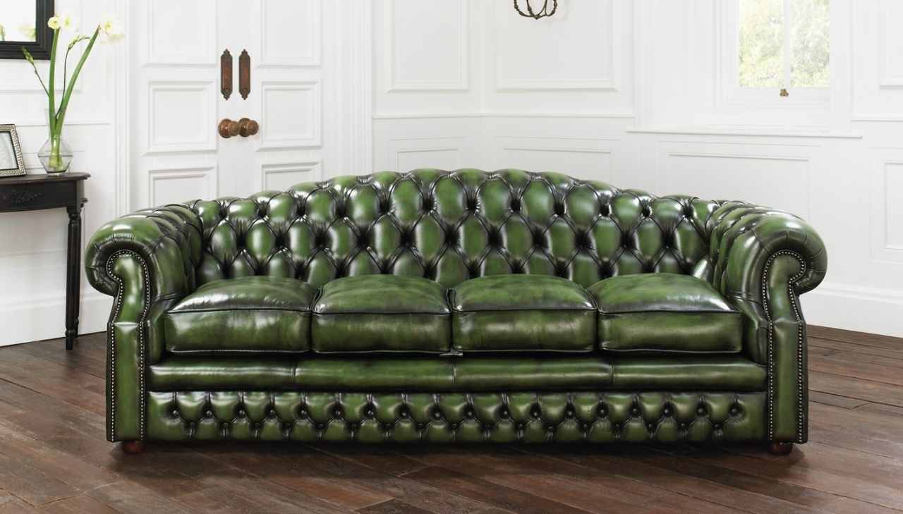 Well Known Tufted Leather Chesterfield Sofas Throughout Sofa : Top Tufted Leather Chesterfield Sofa Style Home Design (View 8 of 20)