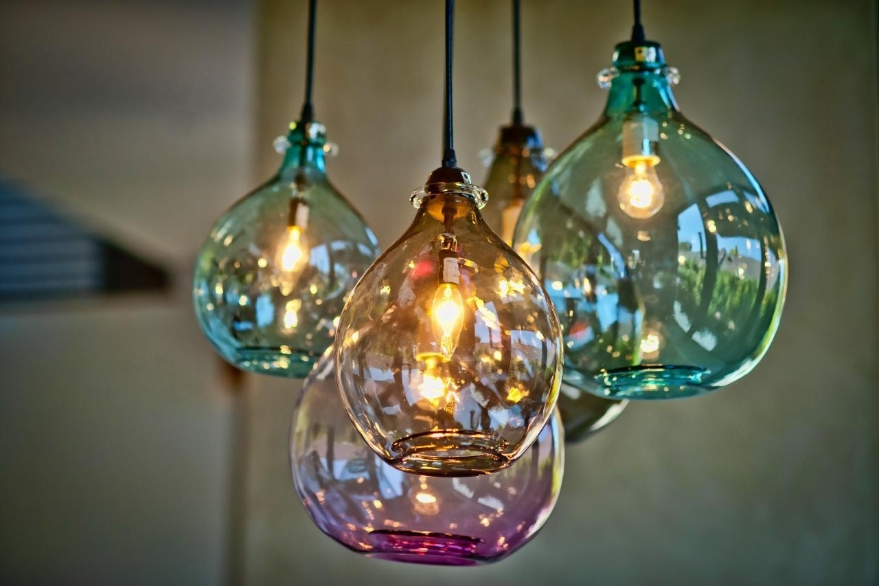 Well Known Turquoise Blown Glass Chandeliers Pertaining To Blown Glass Kitchen Lighting • Kitchen Lighting Design (View 5 of 20)