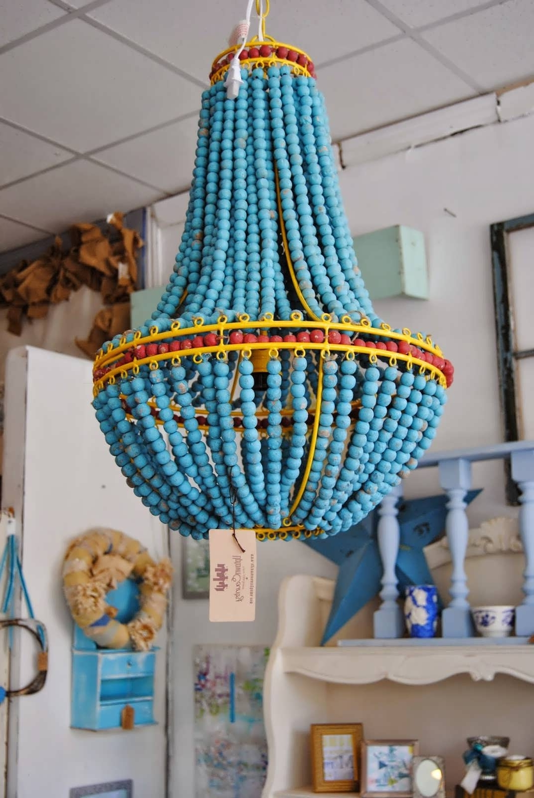 Well Known Turquoise Blue Beaded Chandeliers With Regard To Chandelier : Inexpensive Chandeliers Blue Chandelier Turquoise Blue (View 20 of 20)