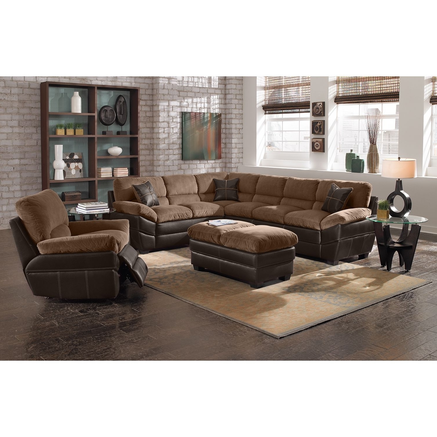 Well Known Value City Sectional Sofas Regarding Chandler Upholstery 2 Pc (View 5 of 20)