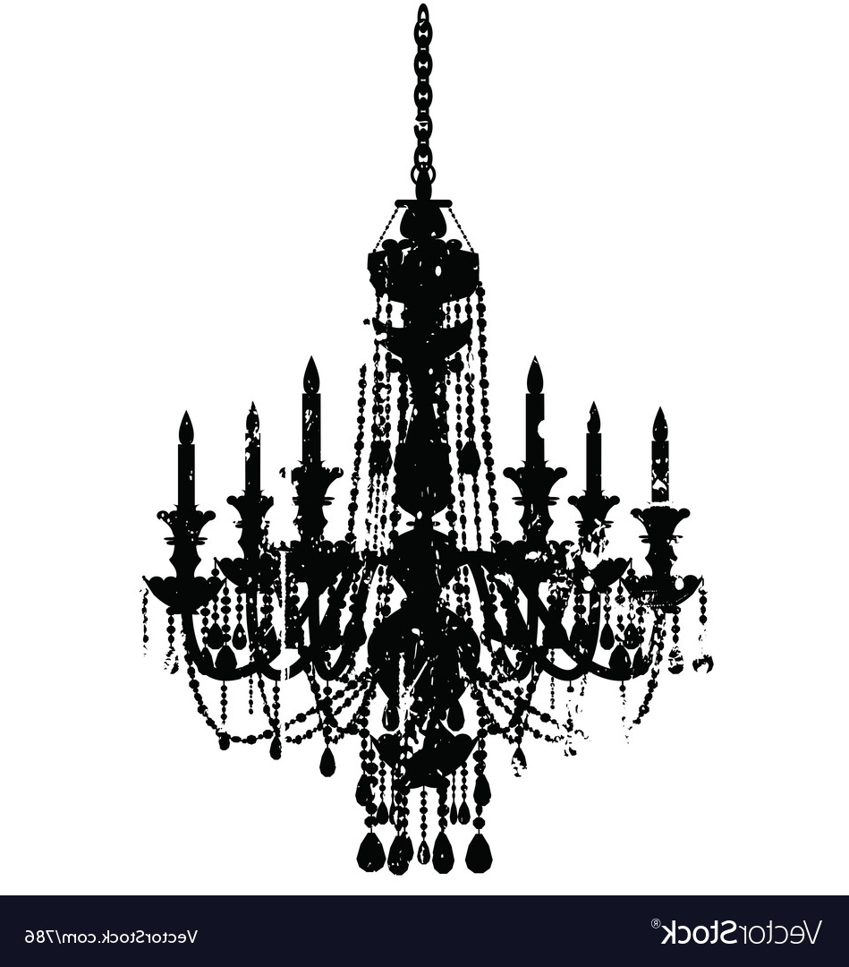 Well Known Vintage Chandelier Royalty Free Vector Image – Vectorstock Within Vintage Chandelier (View 9 of 20)
