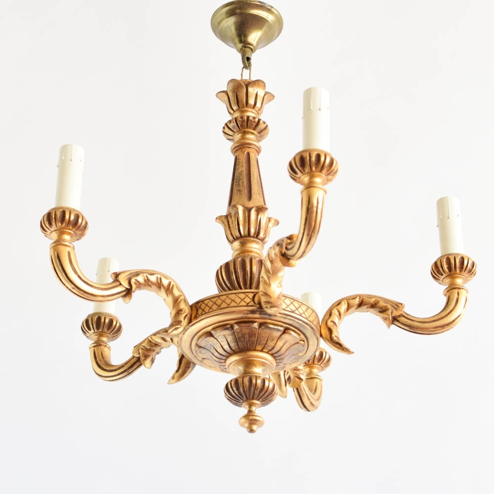 Well Known Vintage Italian Chandeliers Throughout Antique Italian Wood Chandelier : Chandelier Gallery (View 17 of 20)