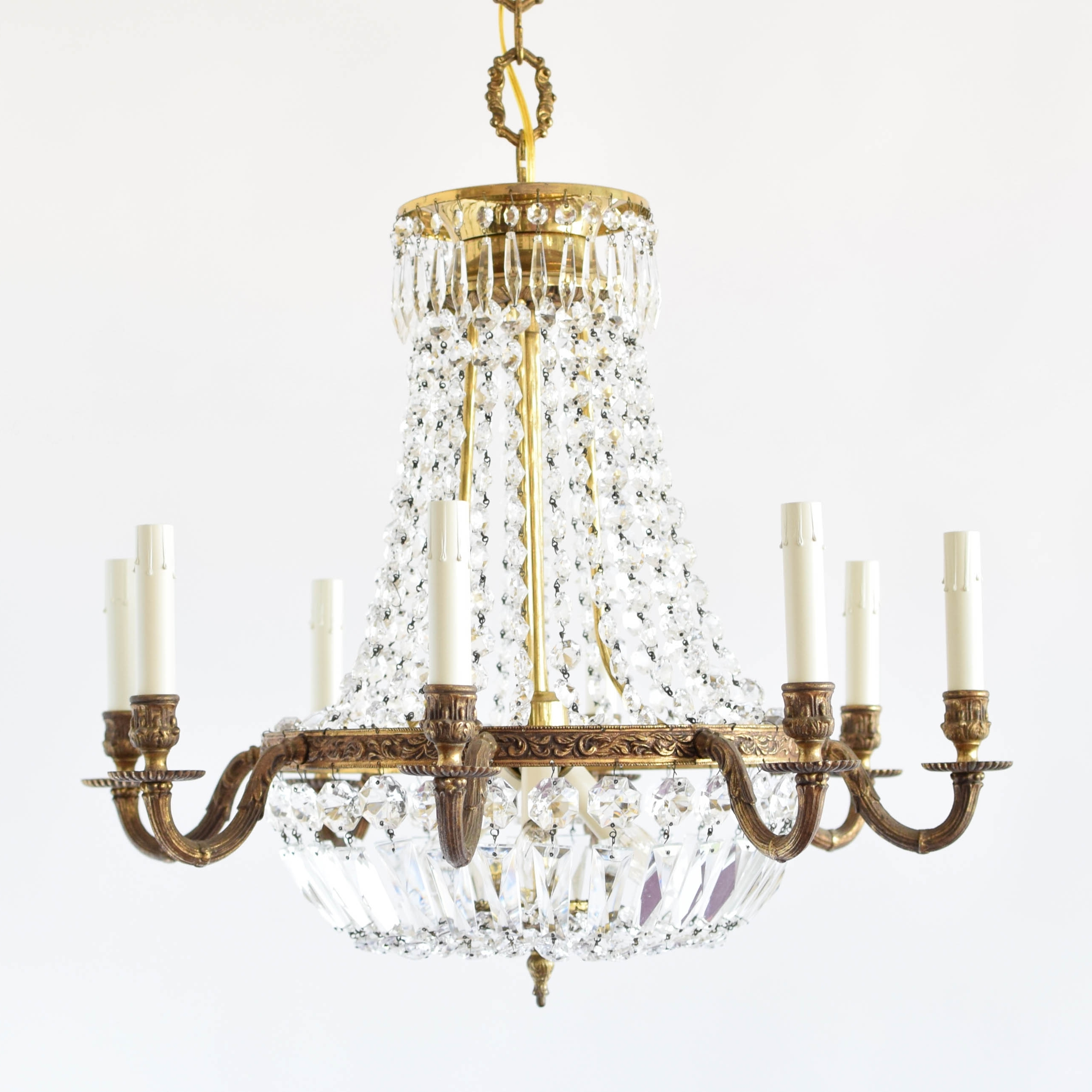 Well Known Vintage Style Chandelier In Empire Style Crystal Chandelier – The Big Chandelier (View 4 of 20)