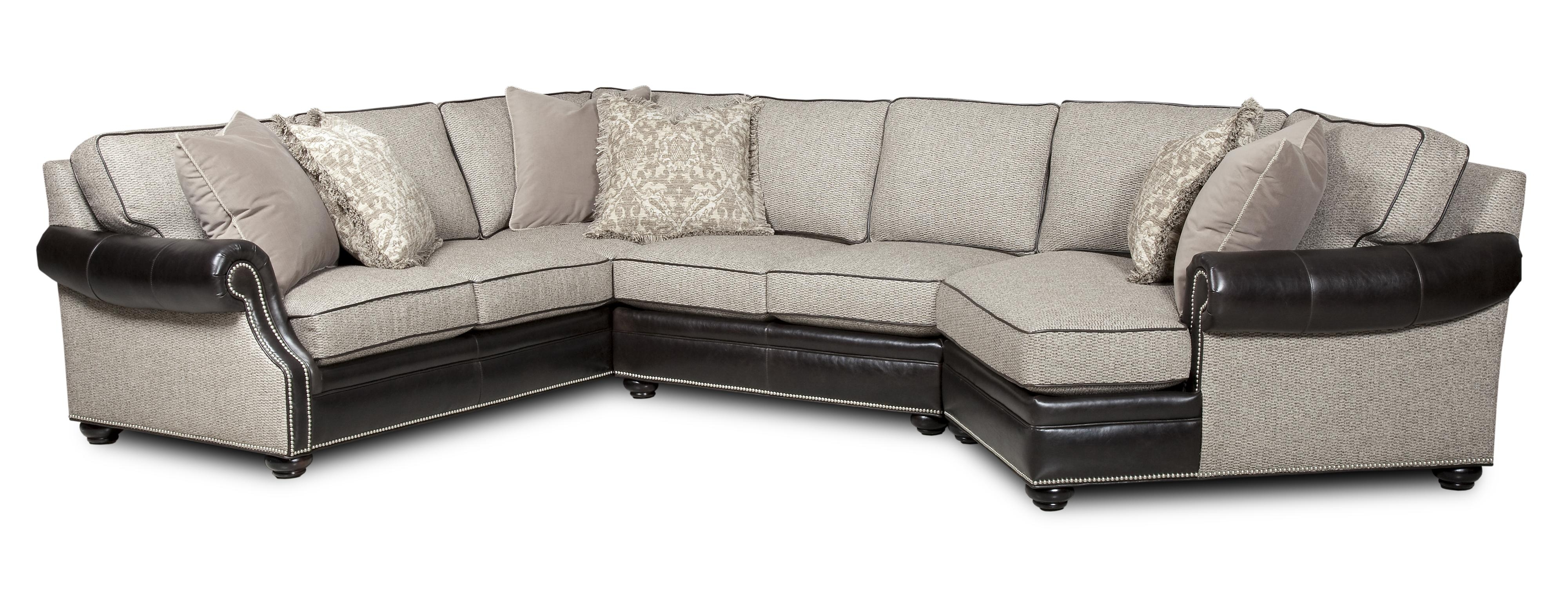Well Known Visalia Ca Sectional Sofas With Bradington Young Warner Three Piece Sectional Sofa With Laf (View 19 of 20)