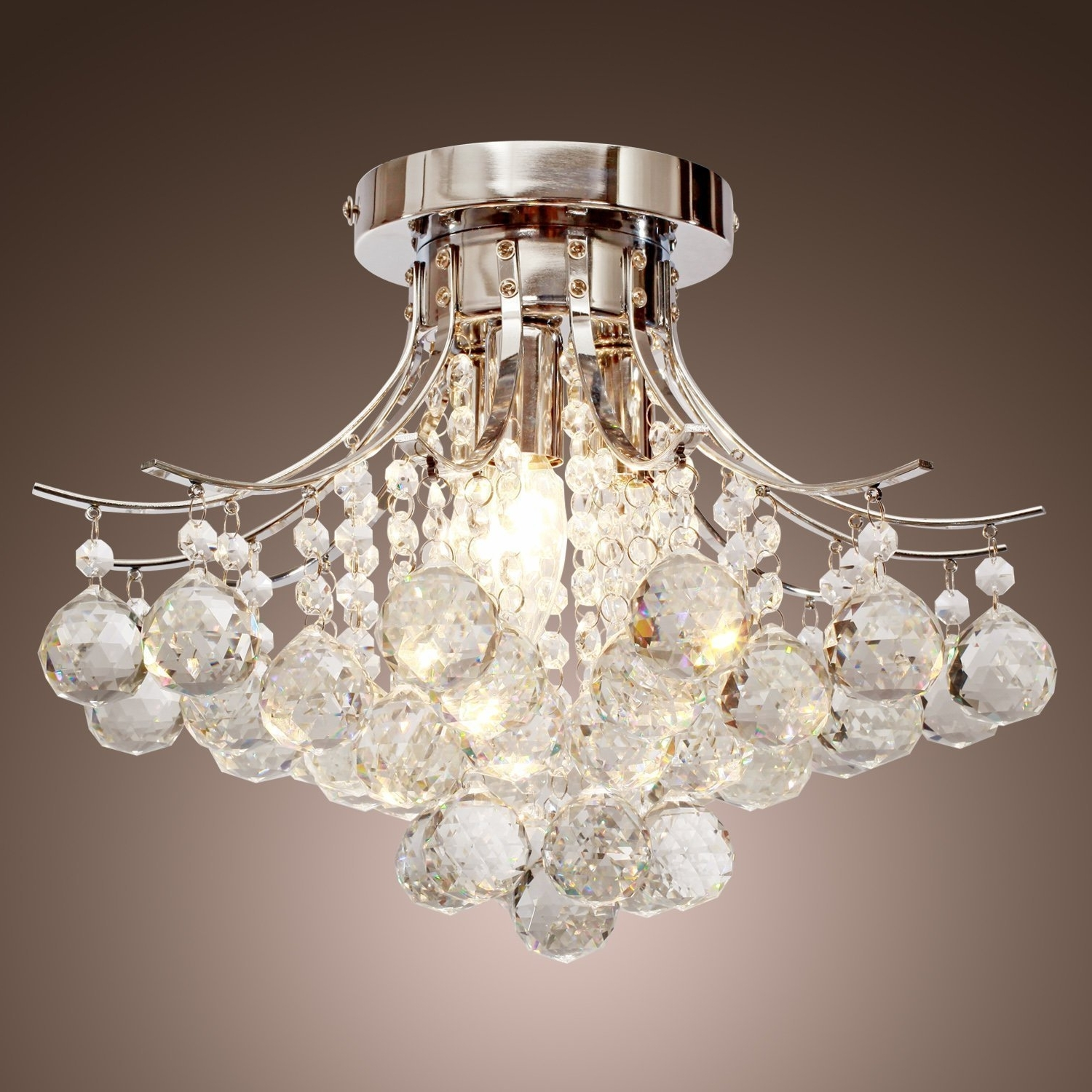 Well Known Wall Mount Crystal Chandeliers Regarding Light : Living Room Ceiling Lights Close To Flush Mount Lighting (View 20 of 20)
