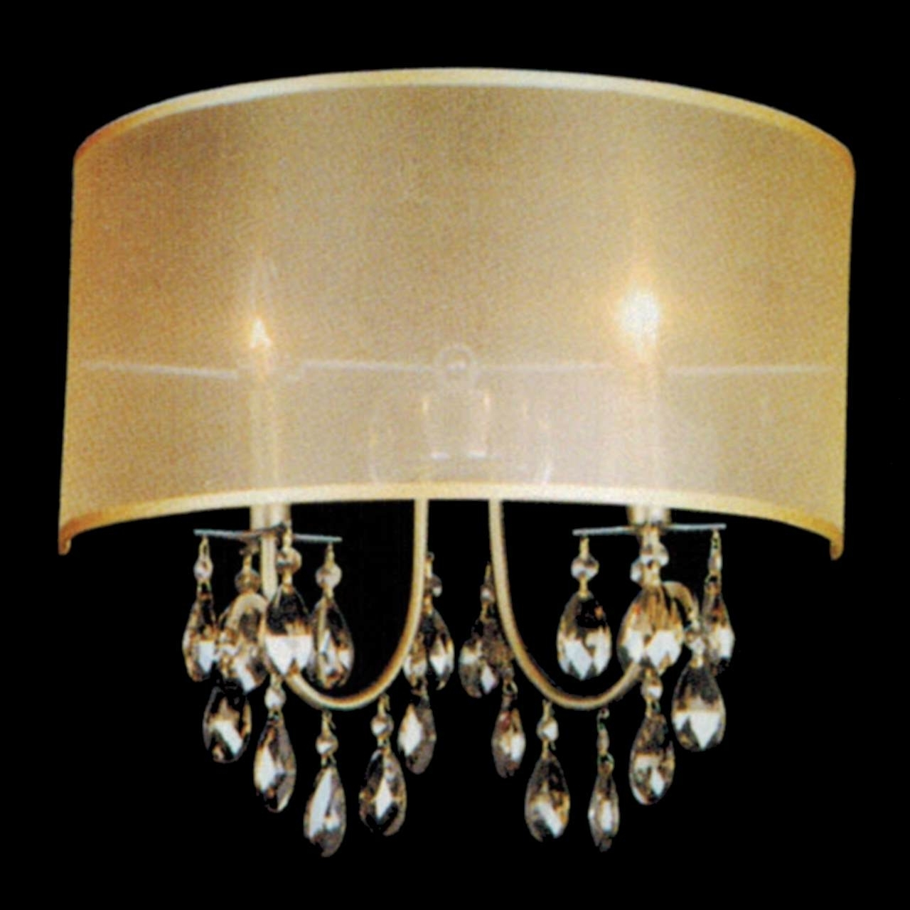 Well Known Wall Mounted Chandelier Lighting Throughout Light Fixture : Crystal Led Lighting Flush Mount Rectangular Crystal (View 8 of 20)