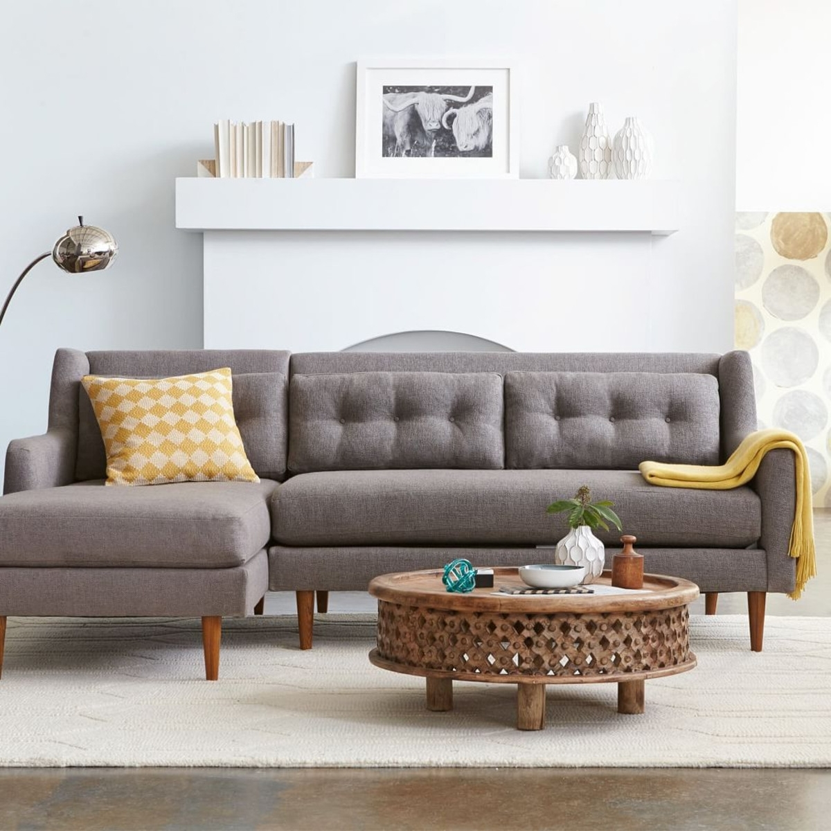 Good Well Known West Elm Sectional Sofas In West Elm Crosby Sofa Sectional  (Gallery 6 Of