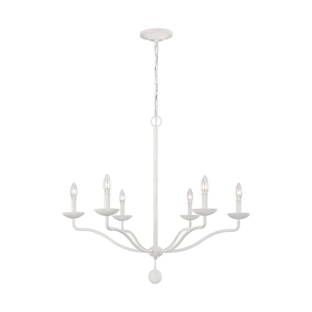 Well Known White Chandelier Within Feiss Annie 6 Light Plaster White Chandelier F3130/6Psw – The Home Depot (View 14 of 20)
