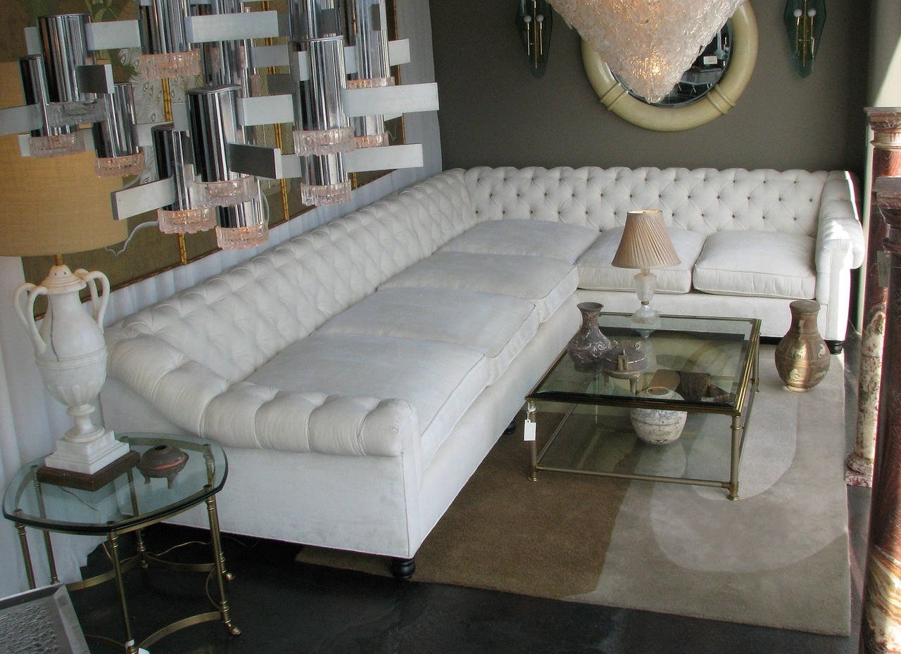 Well Known White Leather Oversized Sectional Sofa With Tufted Back And Arms Throughout Oversized Sectional Sofas (View 16 of 20)
