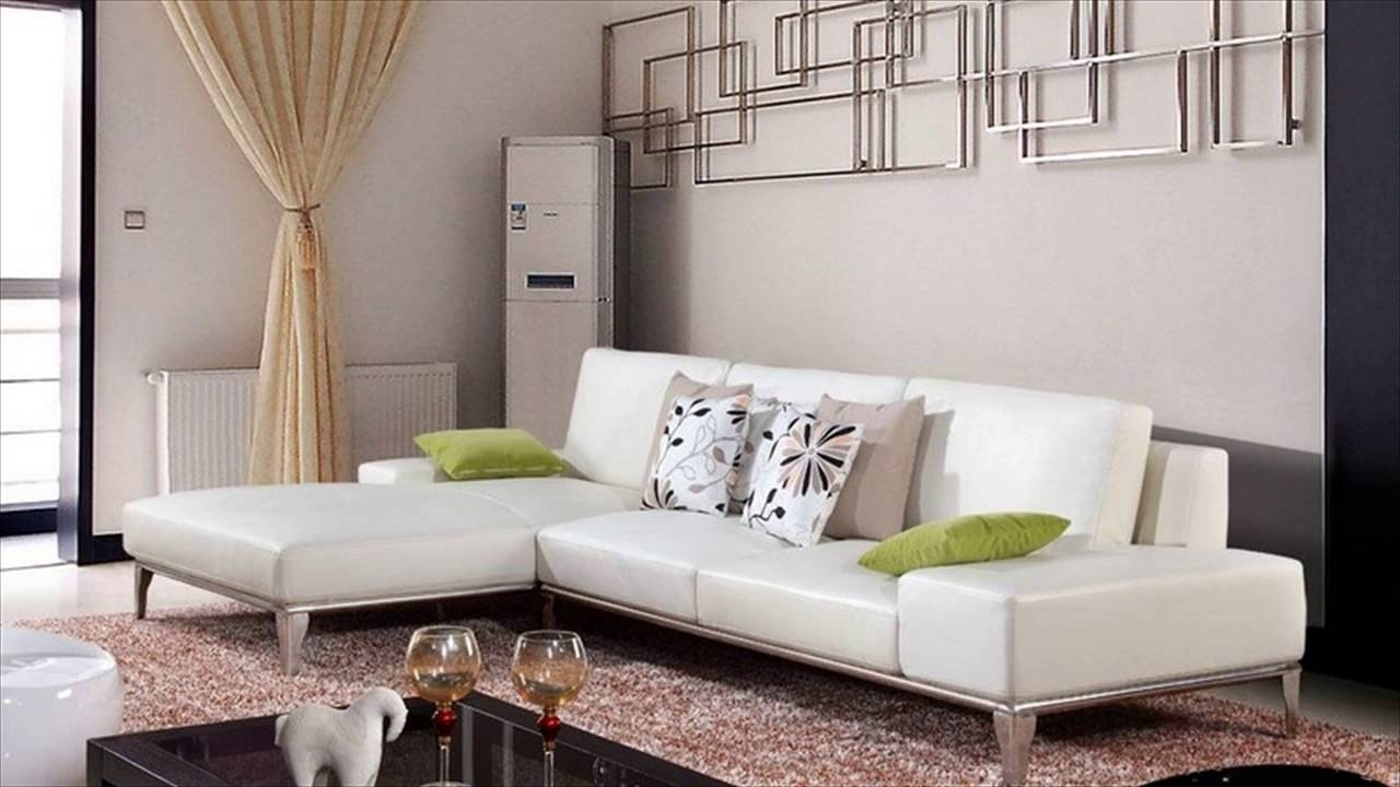 Well Known White Leather Sofas With Regard To White Leather Furniture – Youtube (View 19 of 20)