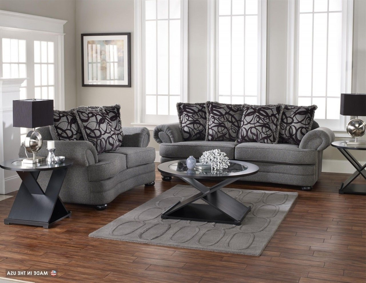 Well Known Wonderful Living Room Design With Grey Sofa Set And Grey Cushion Regarding Grey Sofa Chairs (View 19 of 20)