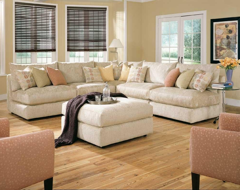 Well Liked Armless Sectional Sofas Inside Rowe Tempo Six Piece Armless Sectional Sofa With Ottoman – Ahfa (View 13 of 20)