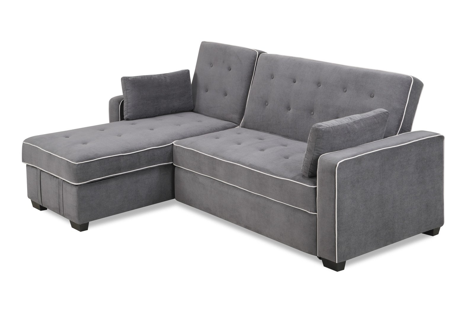 Well Liked Augustine Sectional Moon Greyserta / Lifestyle Intended For Angled Chaise Sofas (View 15 of 20)