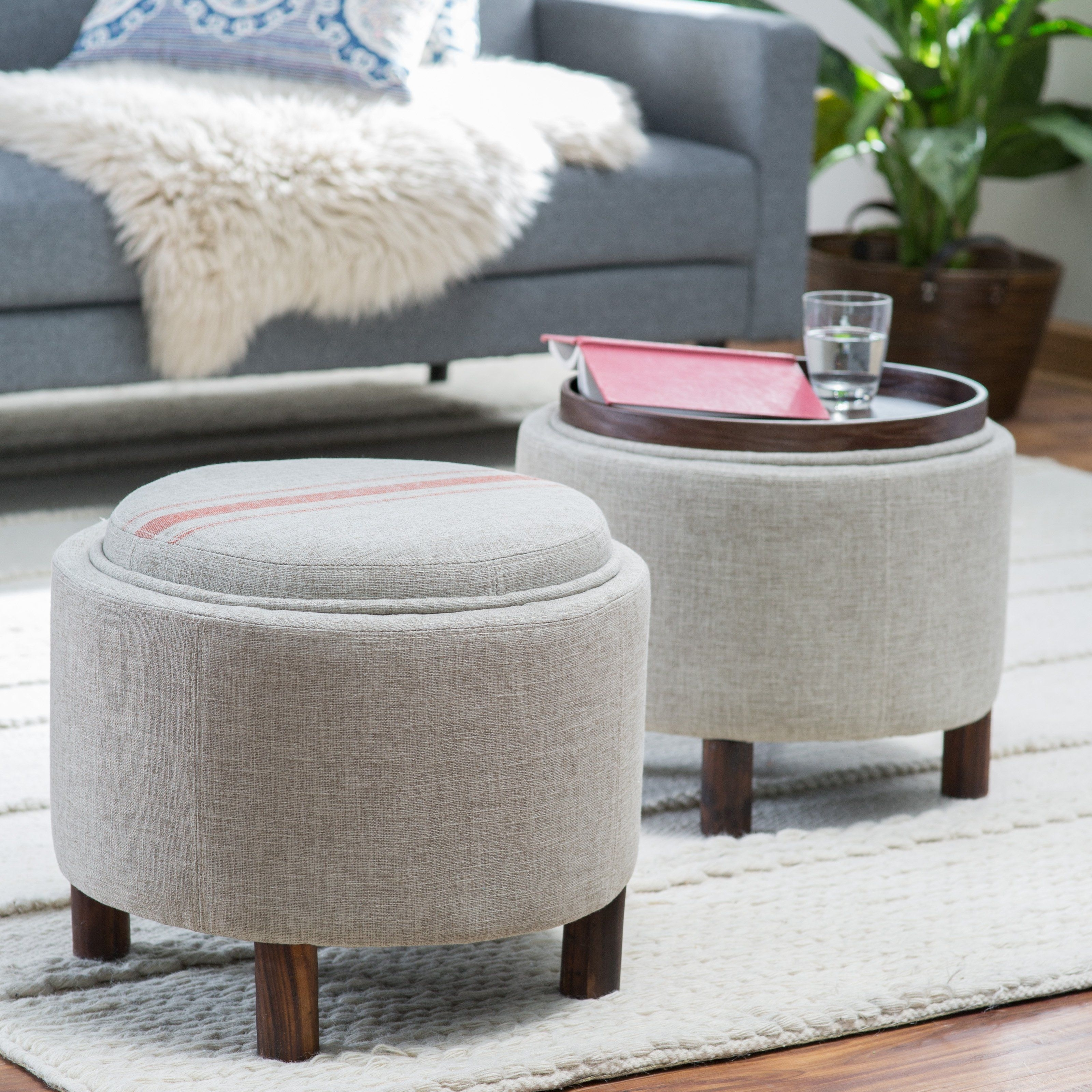 Featured Photo of Ottomans With Tray