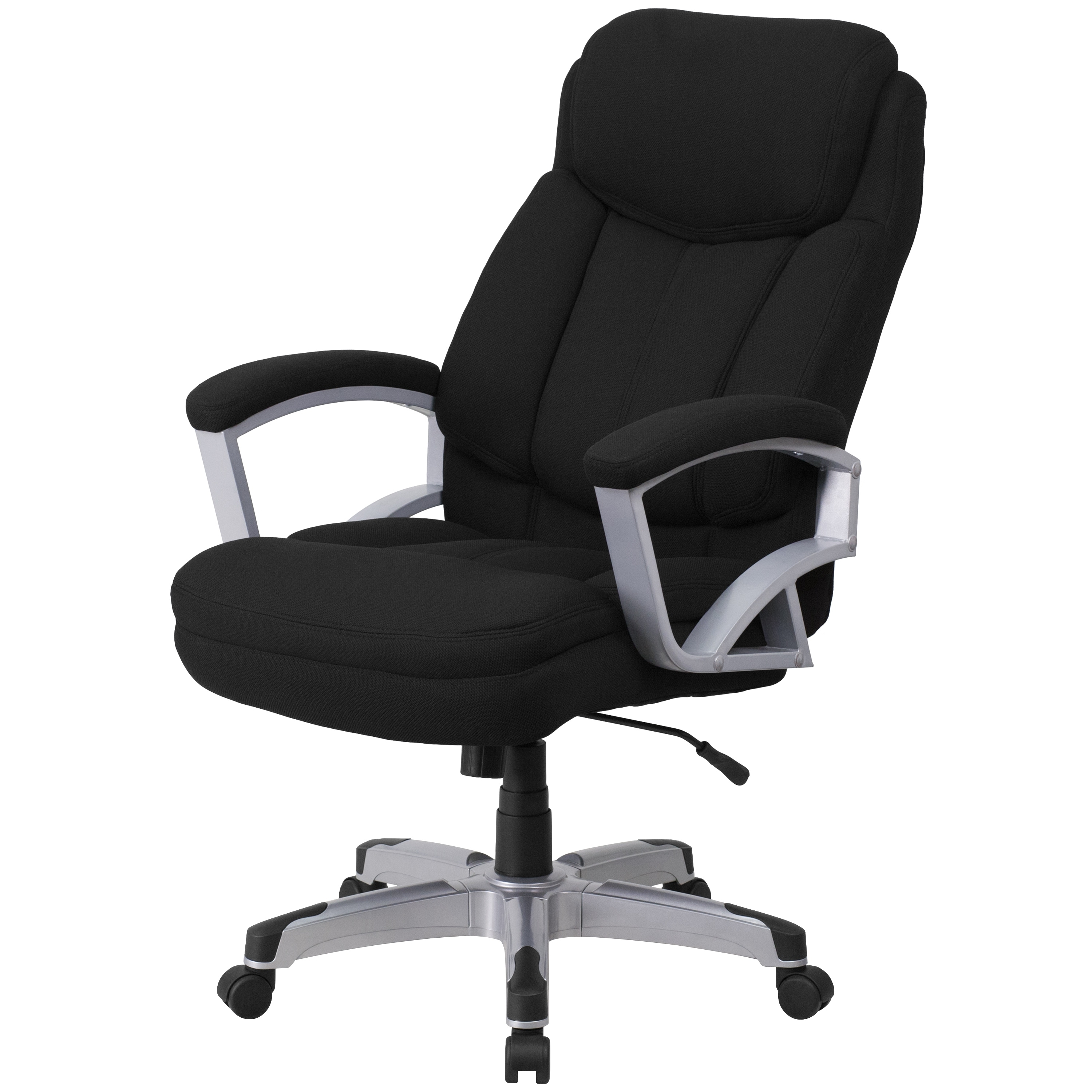 Well Liked Black Executive Office Chairs With Regard To Hercules Series 500 Pound Capacity Big And Tall Black Fabric (View 2 of 20)