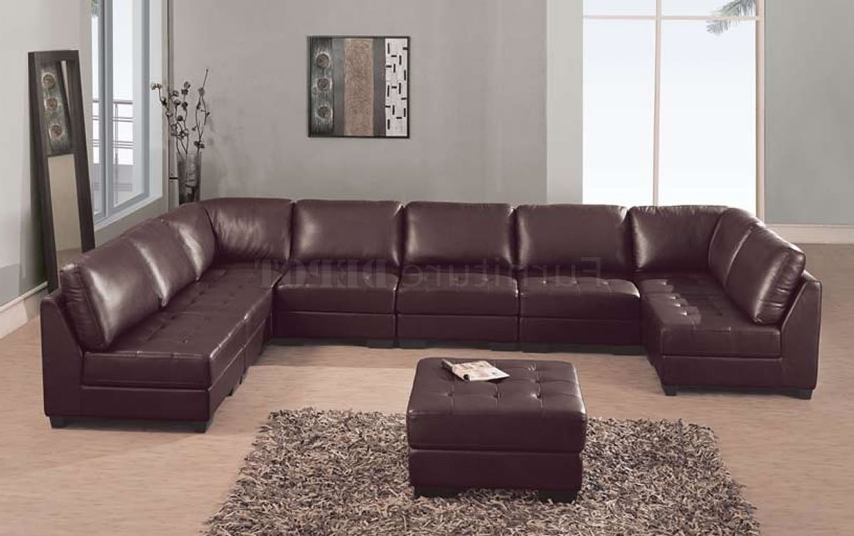 Well Liked Brown Leather Sectional Sofas Inside High End Leather Sectional Sofas (View 18 of 20)