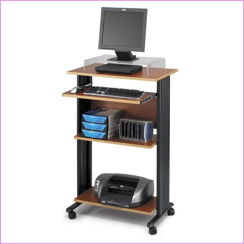 Well Liked Computer Desks With Wheels For Laptop Computer Desks For Small Spaces – Saomc (View 19 of 20)