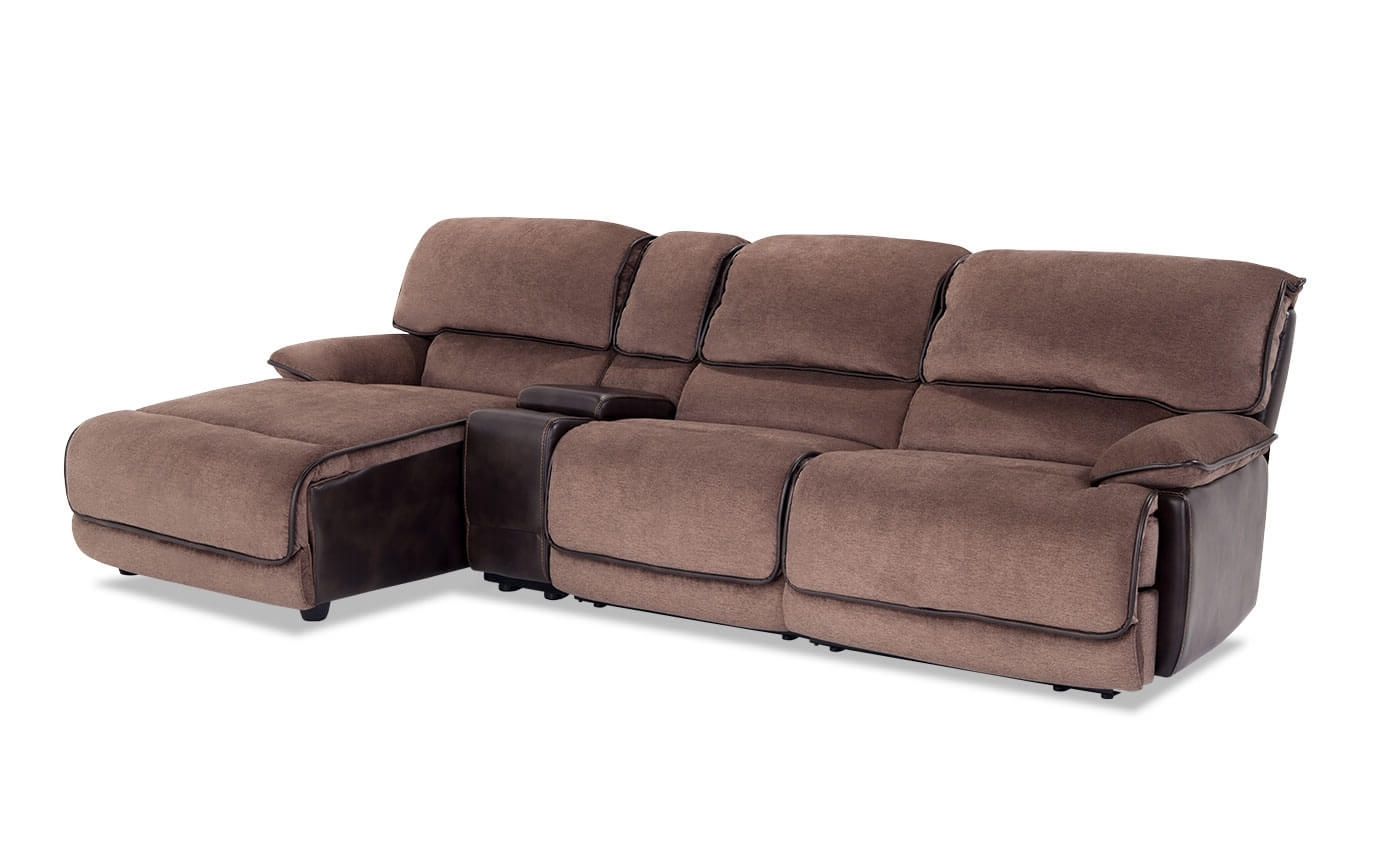 Well Liked Dawson Power 4 Piece Left Arm Facing Console Sectional (View 4 of 20)