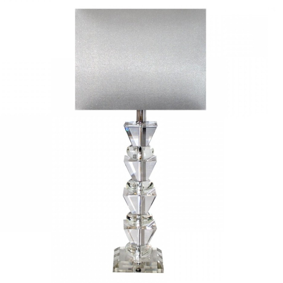 Well Liked Decoration Ideas Modern Bedroom Table Lamp Using White Drum Throughout Small Crystal Chandelier Table Lamps (View 2 of 20)