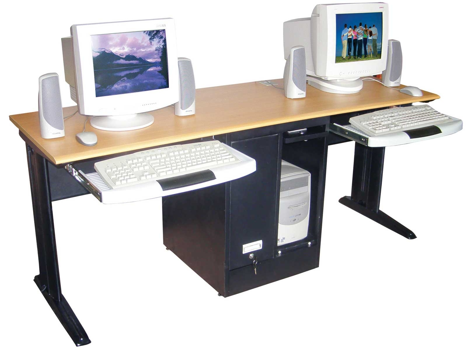 Well Liked Dual Desk Home Office, Home Office Computer Desks Workstations Pertaining To Computer Desks And Workstations (View 20 of 20)