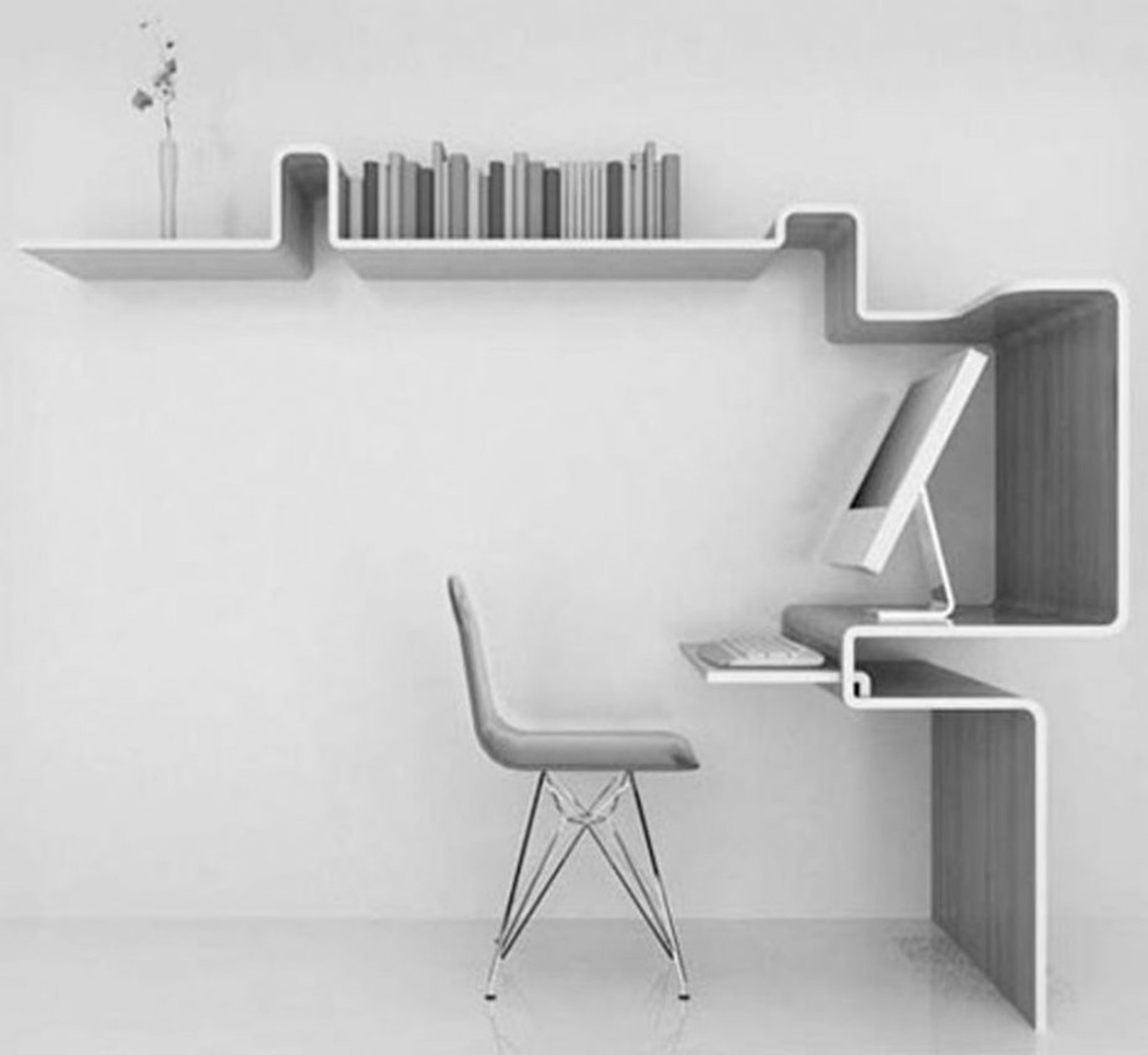Well Liked √ 20+ Futuristic Modern Computer Desk And Bookcase Design Ideas Intended For Modern Computer Desks (View 5 of 20)