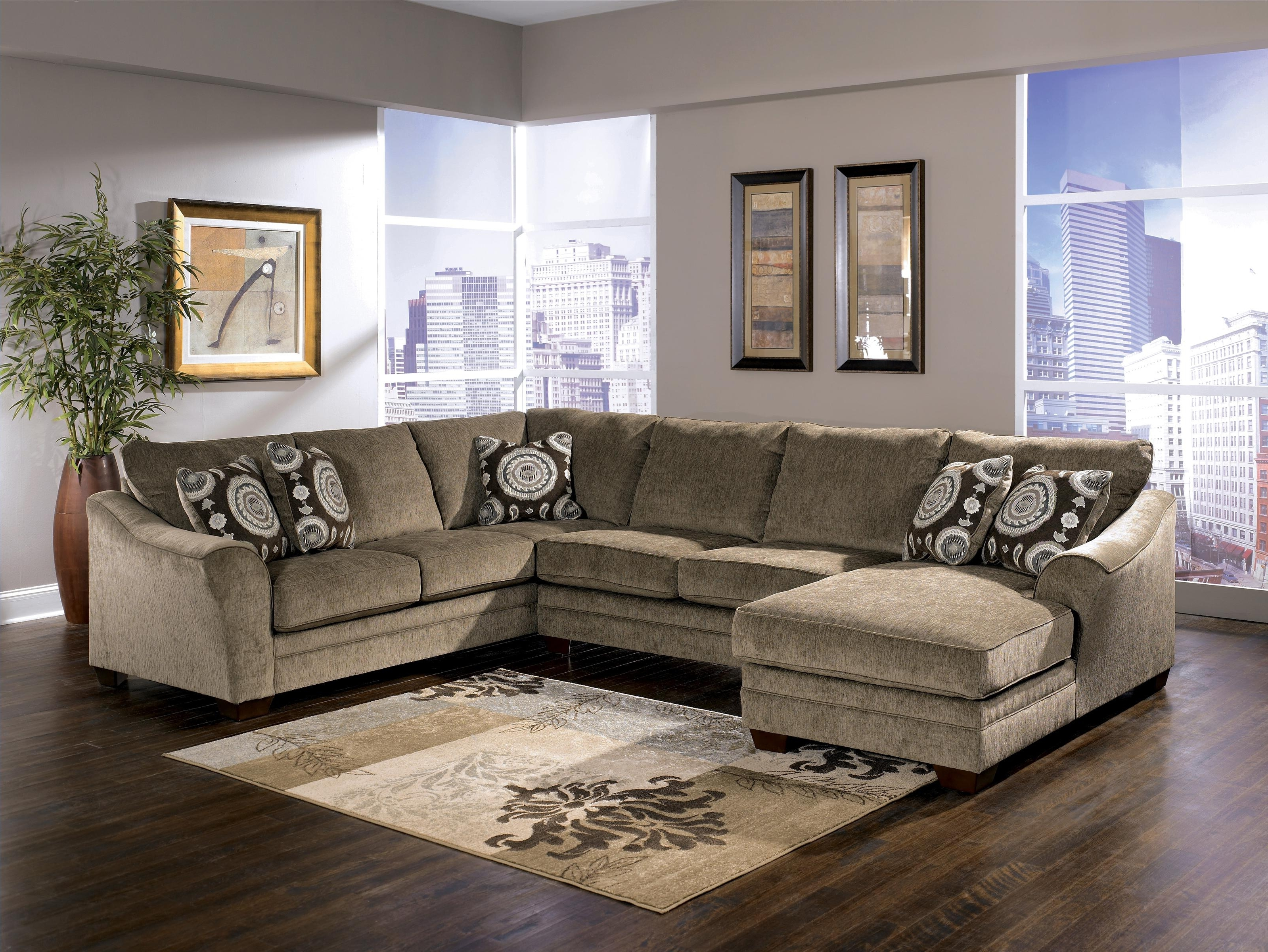 Well Liked El Paso Tx Sectional Sofas Intended For Signature Designashley Cosmo – Marble Sectional Sofa With (View 19 of 20)