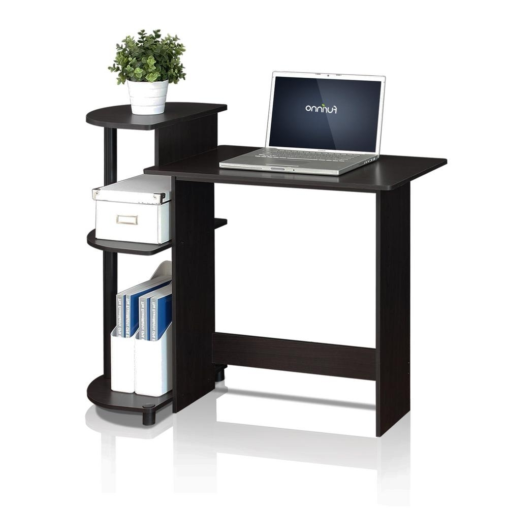 Well Liked Espresso Computer Desks Within Furinno Compact French Oak Grey Computer Desk 11181gyw/bk – The (View 6 of 20)