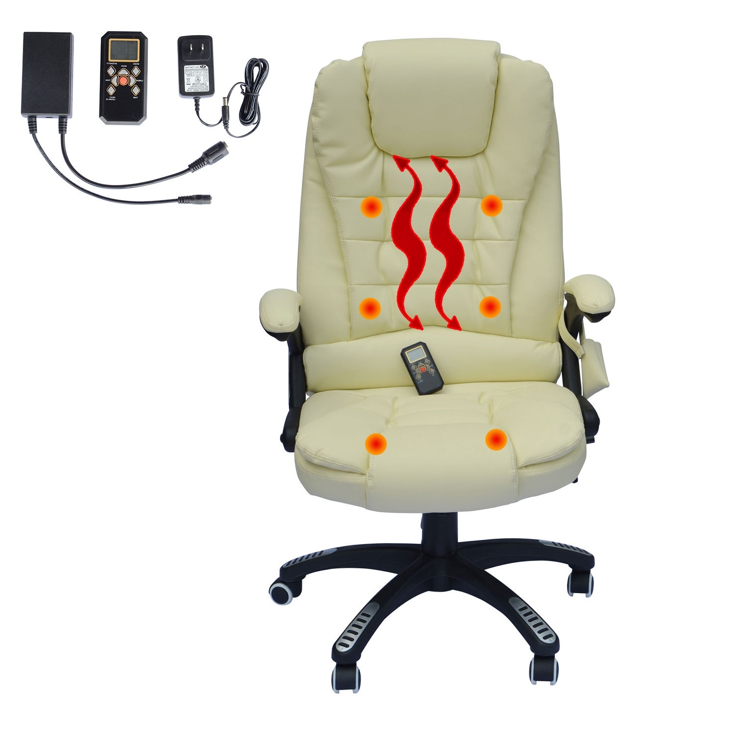 Well Liked Home Office Computer Desk Massage Chair Executive Ergonomic Heated Pertaining To Executive Office Chairs With Massage/heat (View 19 of 20)