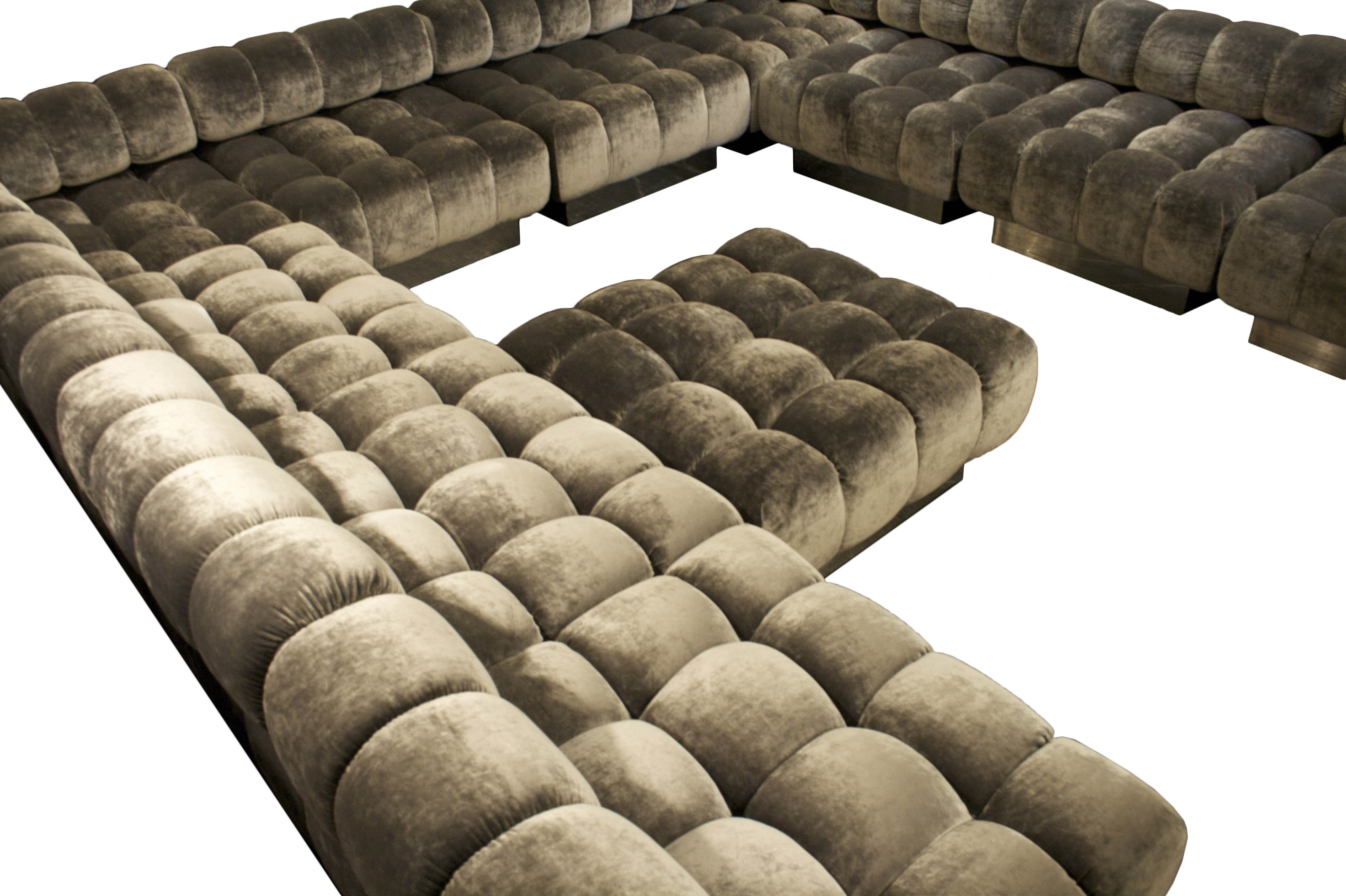 Well Liked Inspirational L Shaped White Faux Leather Tufted Sectional Sofas Regarding Customizable Sectional Sofas (View 20 of 20)