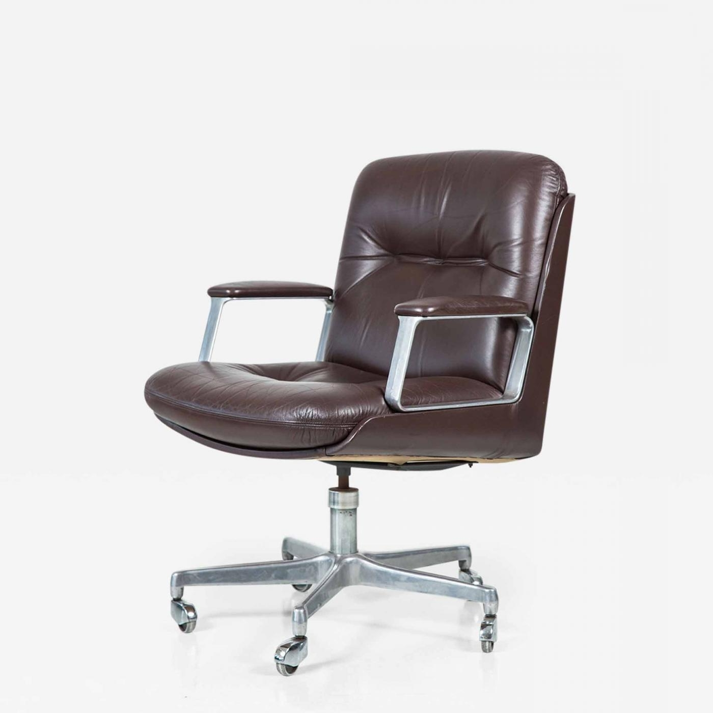 Well Liked Italian Executive Office Chairs For Chairs : Osvaldo Borsani Italian Leather Office Chair Four (View 19 of 20)