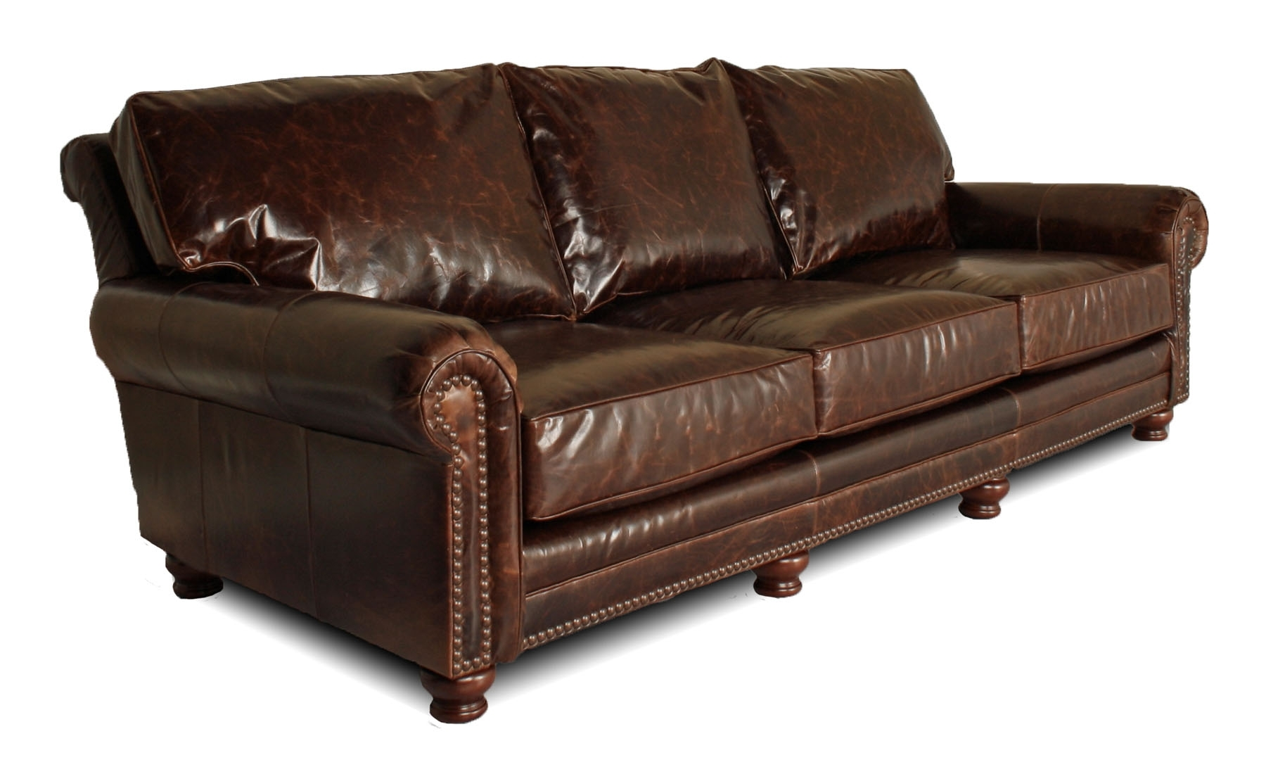 Well Liked Kingston Sectional Sofas For Deep Leather Furniture For The Big & Tall, Atlanta, Austin,chicago (View 18 of 20)