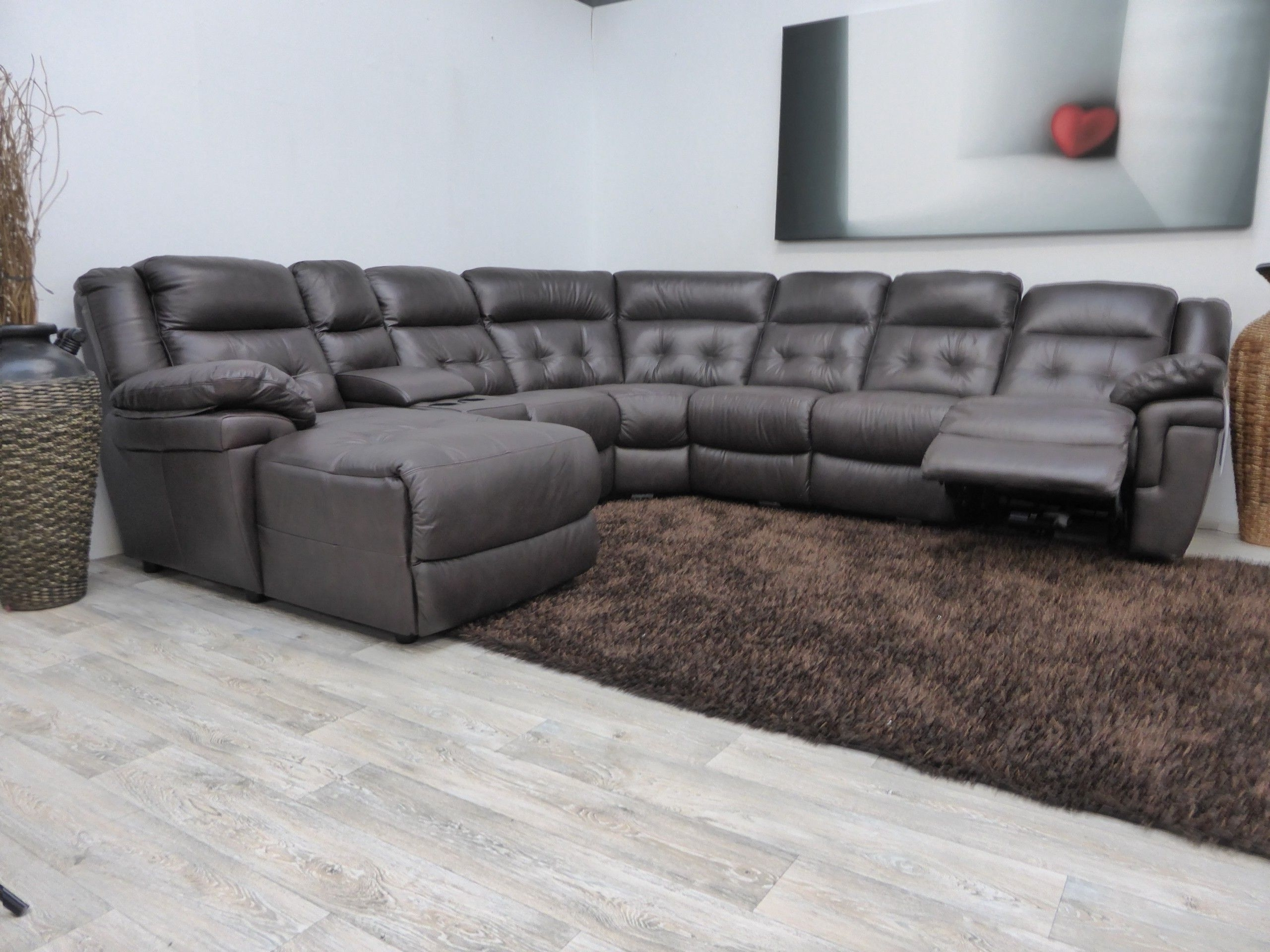 Well Liked L Shaped Sofa Design With Black Upholstery Faux Leather Sofa Regarding Sectional Sofas At Lazy Boy (View 7 of 20)