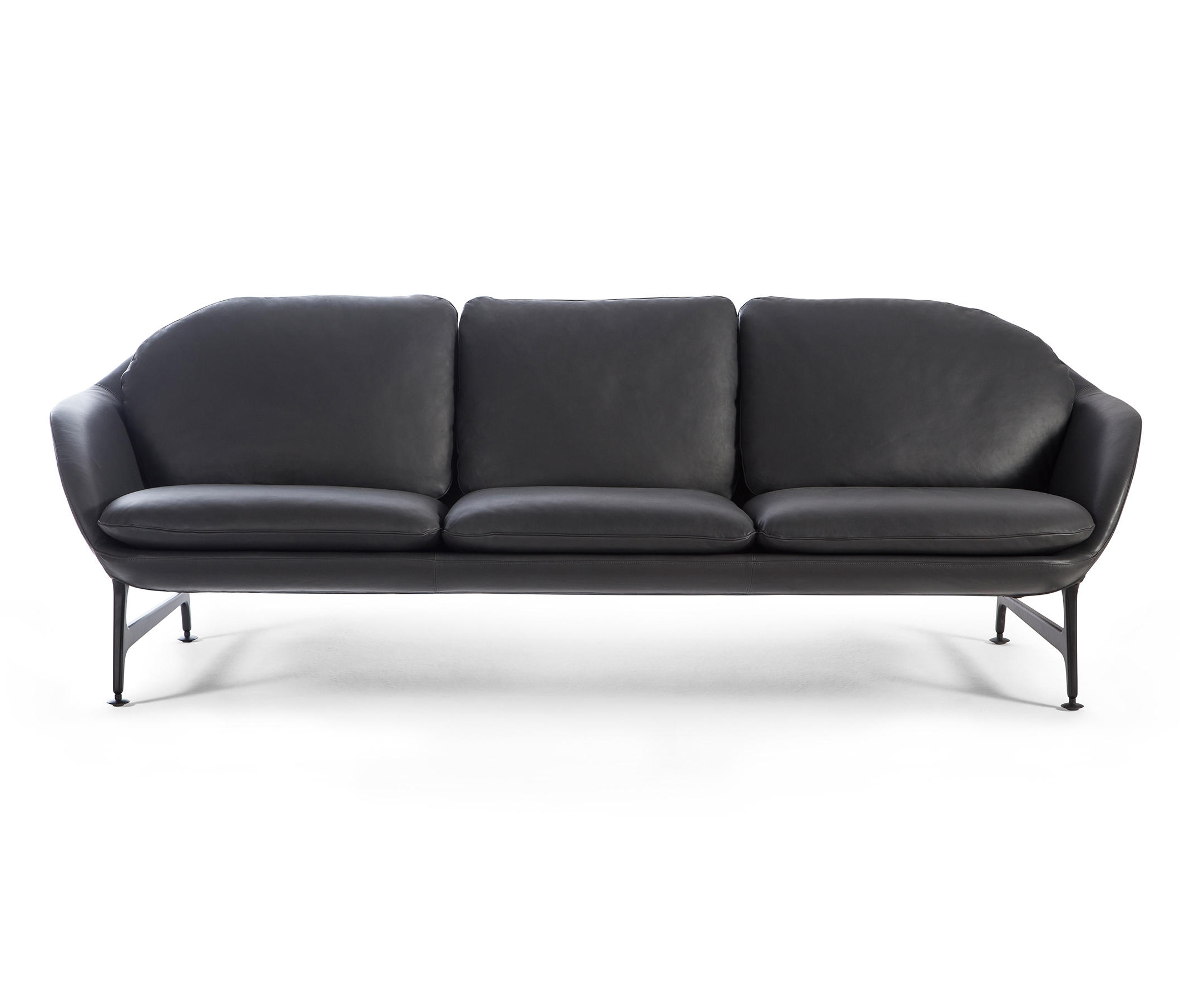 Well Liked Leather Lounge Sofas In 399 Vico 3 Seater Sofa Leather – Lounge Sofas From Cassina (View 20 of 20)