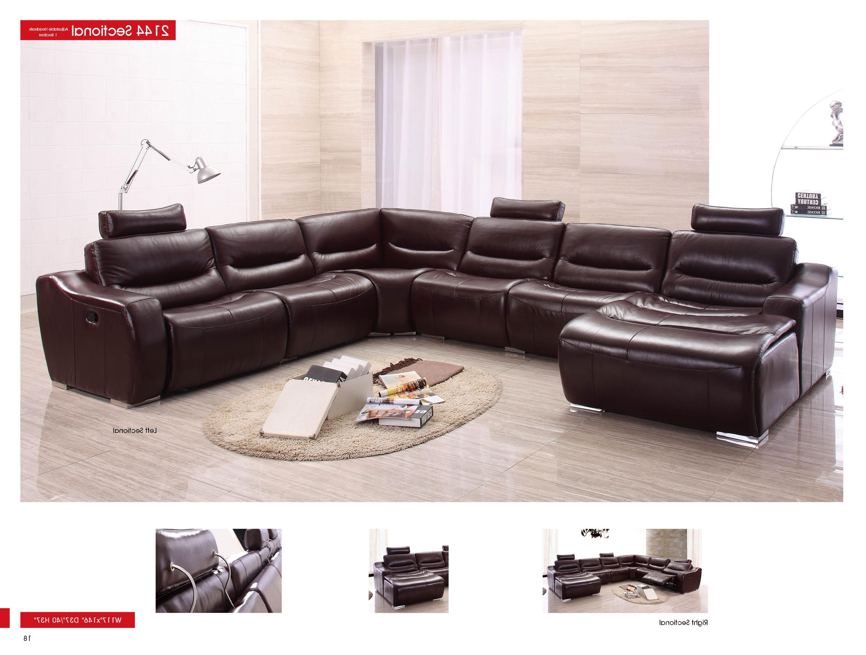 Well Liked Leather Recliner Sectional Sofas Pertaining To Franco Leather Reclining Sofa And Franco Leather Reclining (View 18 of 20)