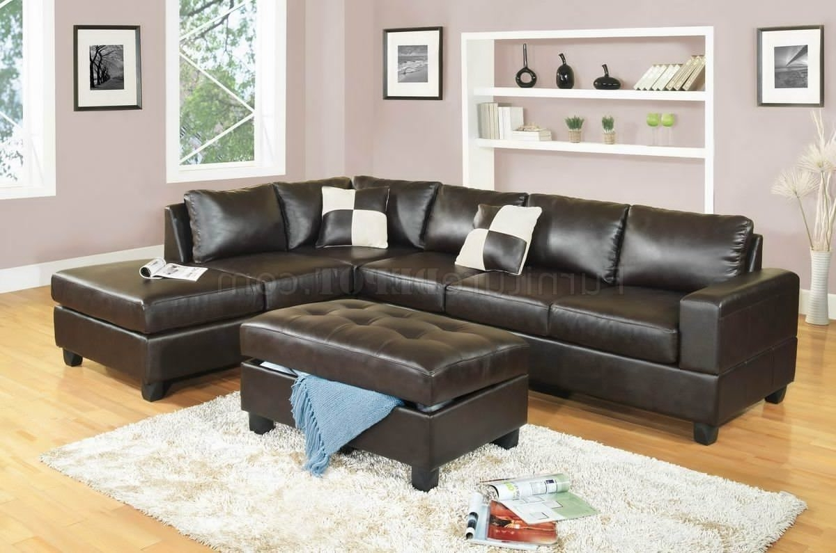 Well Liked Leather Sectional Sofas With Ottoman In Sectional Sofa Design: Leather Sectional Sofa With Ottoman (View 8 of 20)