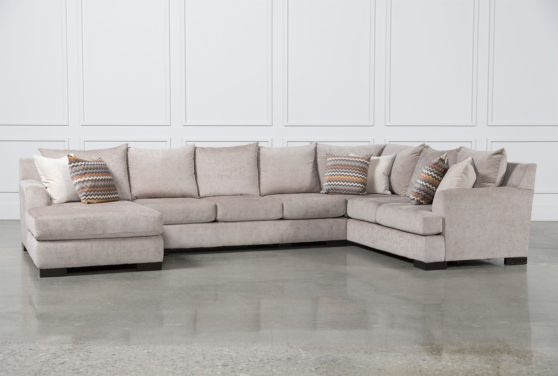 Well Liked Living Spaces Sectional Sofas Intended For Ellison 3 Piece Sectional; Living Spaces, $99 Delivery; 3 Piece (View 5 of 20)