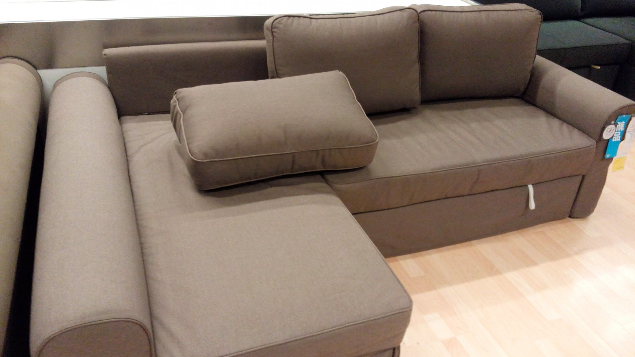 Well Liked Manstad Sofa Bed Dimensions #2 Ikea Backabro Sofa Bed With Chaise Pertaining To Manstad Sofas (View 5 of 20)