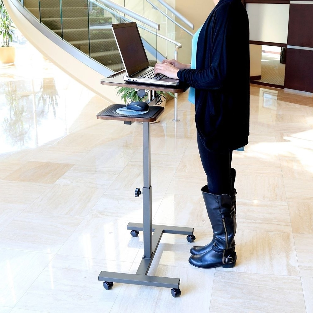 Well Liked Mobile Laptop Desk With Side Table Long Table Legs Office Doctor Pertaining To Portable Computer Desks (View 17 of 20)