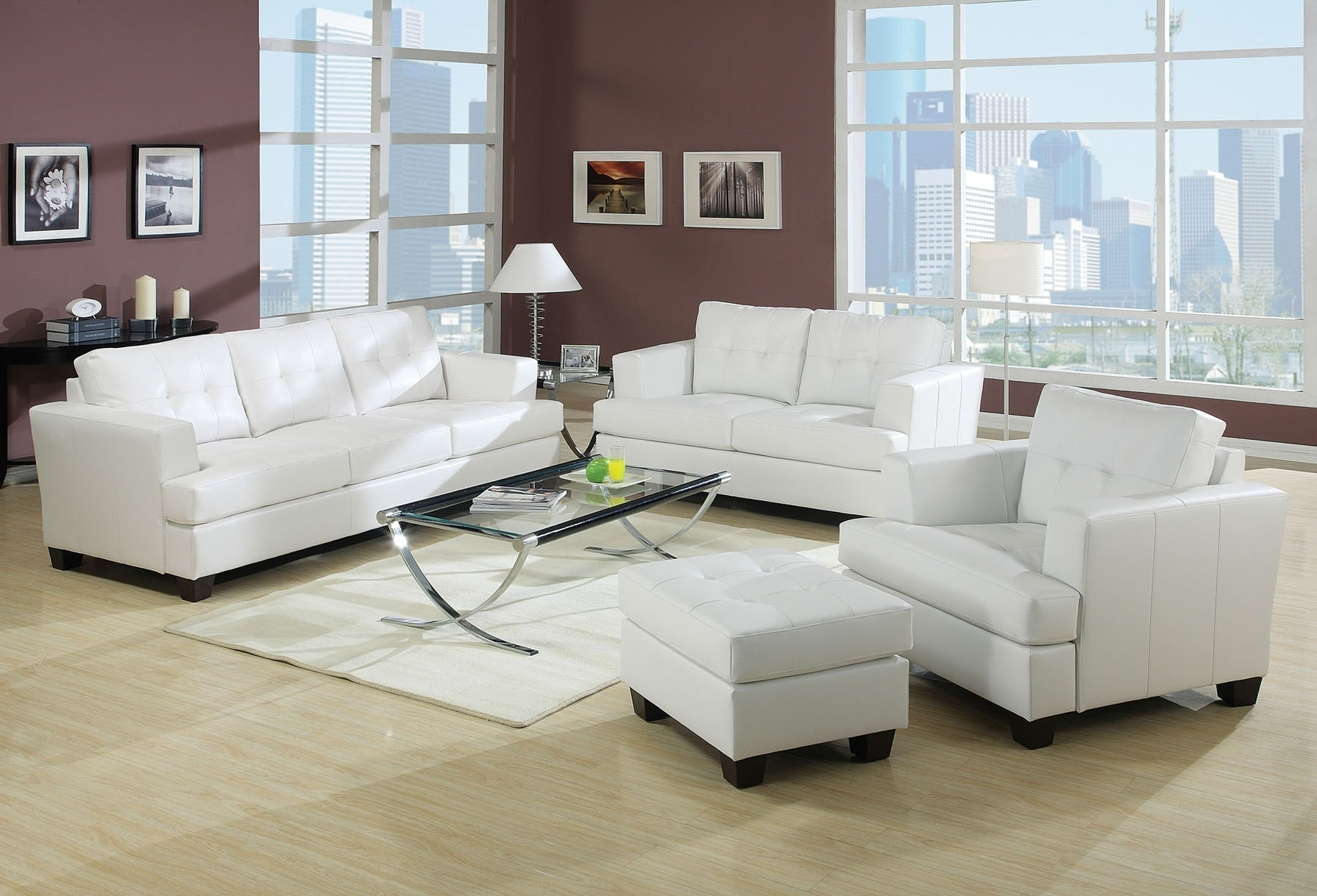 Well Liked Modern White Leather Corner Sofas Sofa And Chair Uk Contemporary In
