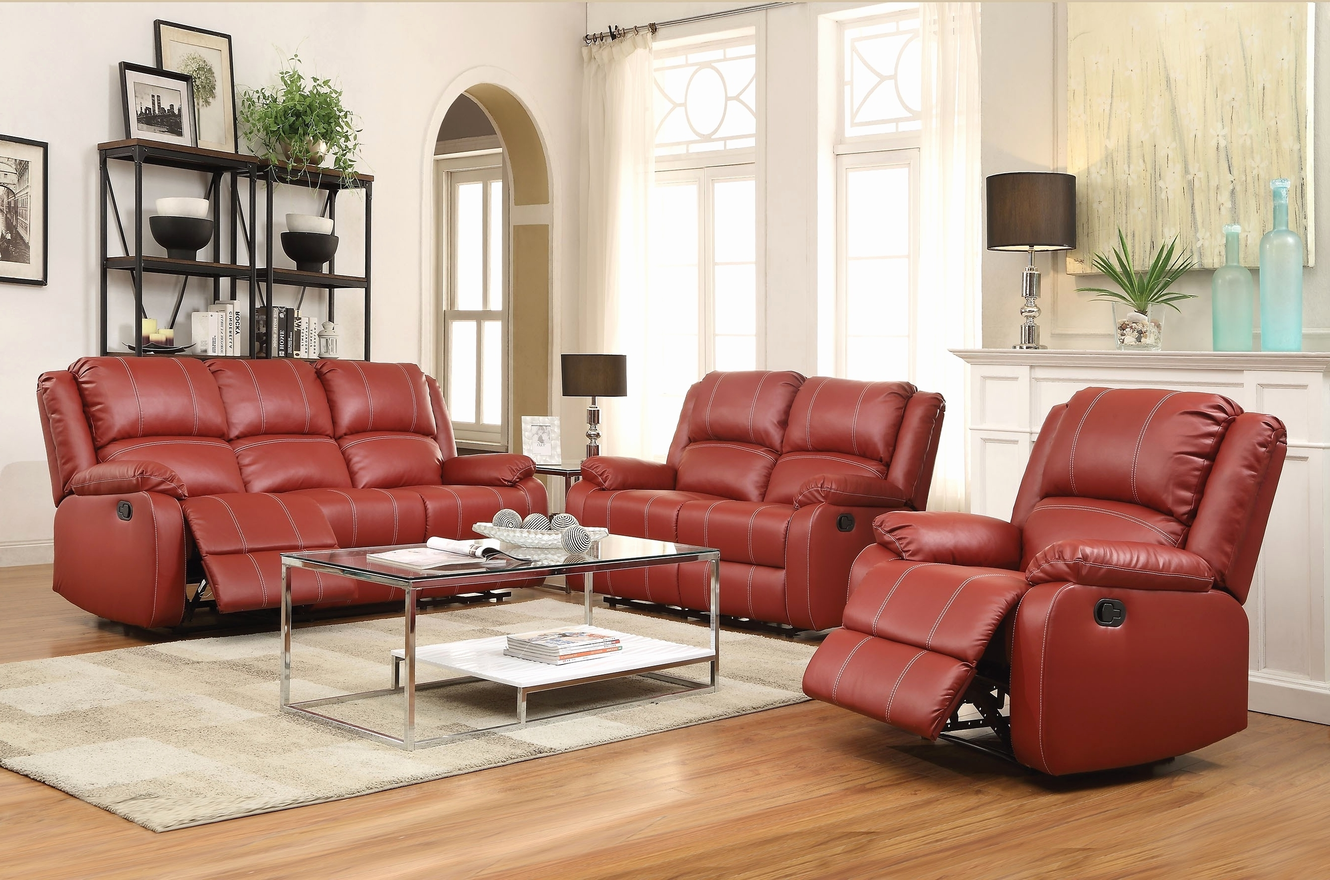 Well Liked Red Leather Reclining Sofa And Loveseat (View 17 of 20)