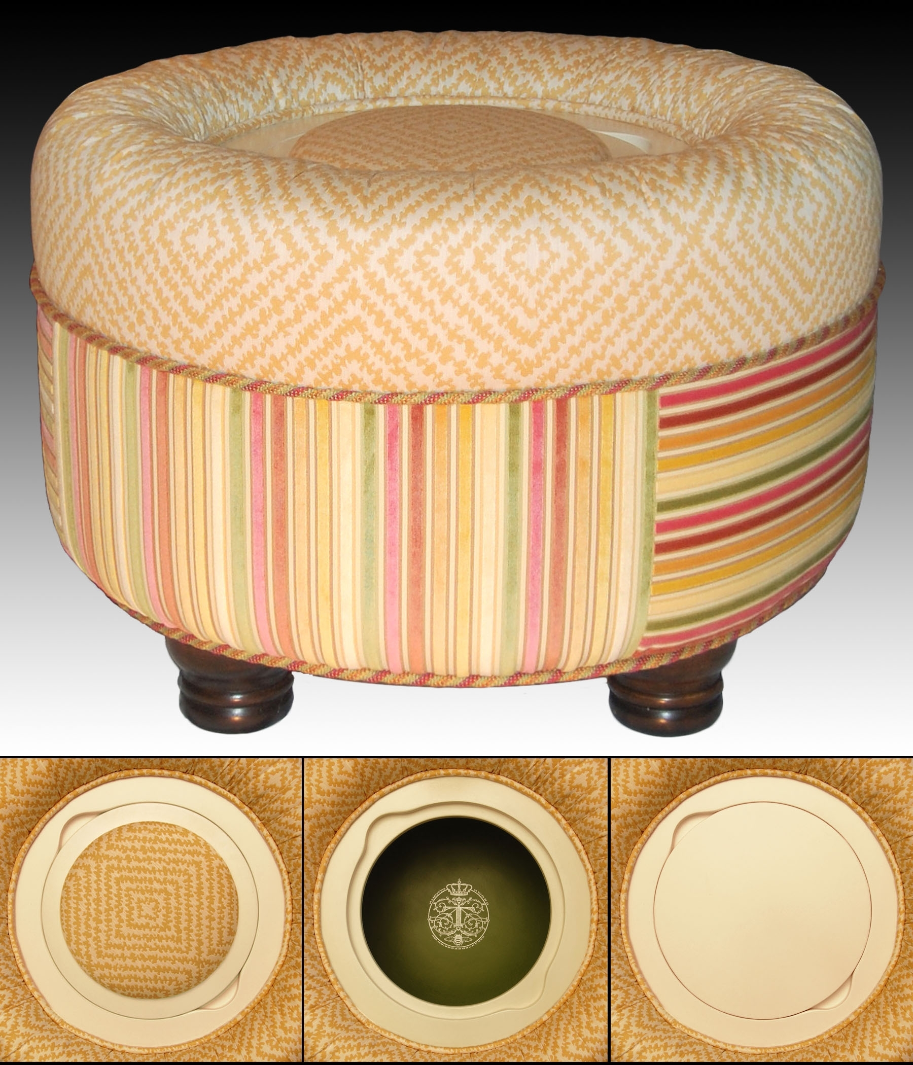 Well Liked Round Storage Ottoman — Dans Design Magz Intended For Ottomans With Wheels (View 10 of 20)
