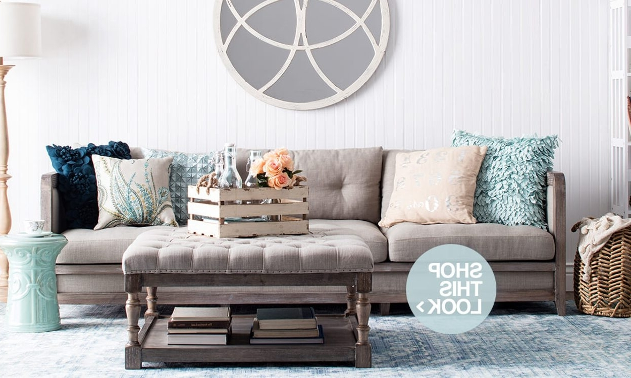 Well Liked Shabby Chic Sofas With Beautiful Shabby Chic Furniture & Decor Ideas Overstock (View 17 of 20)