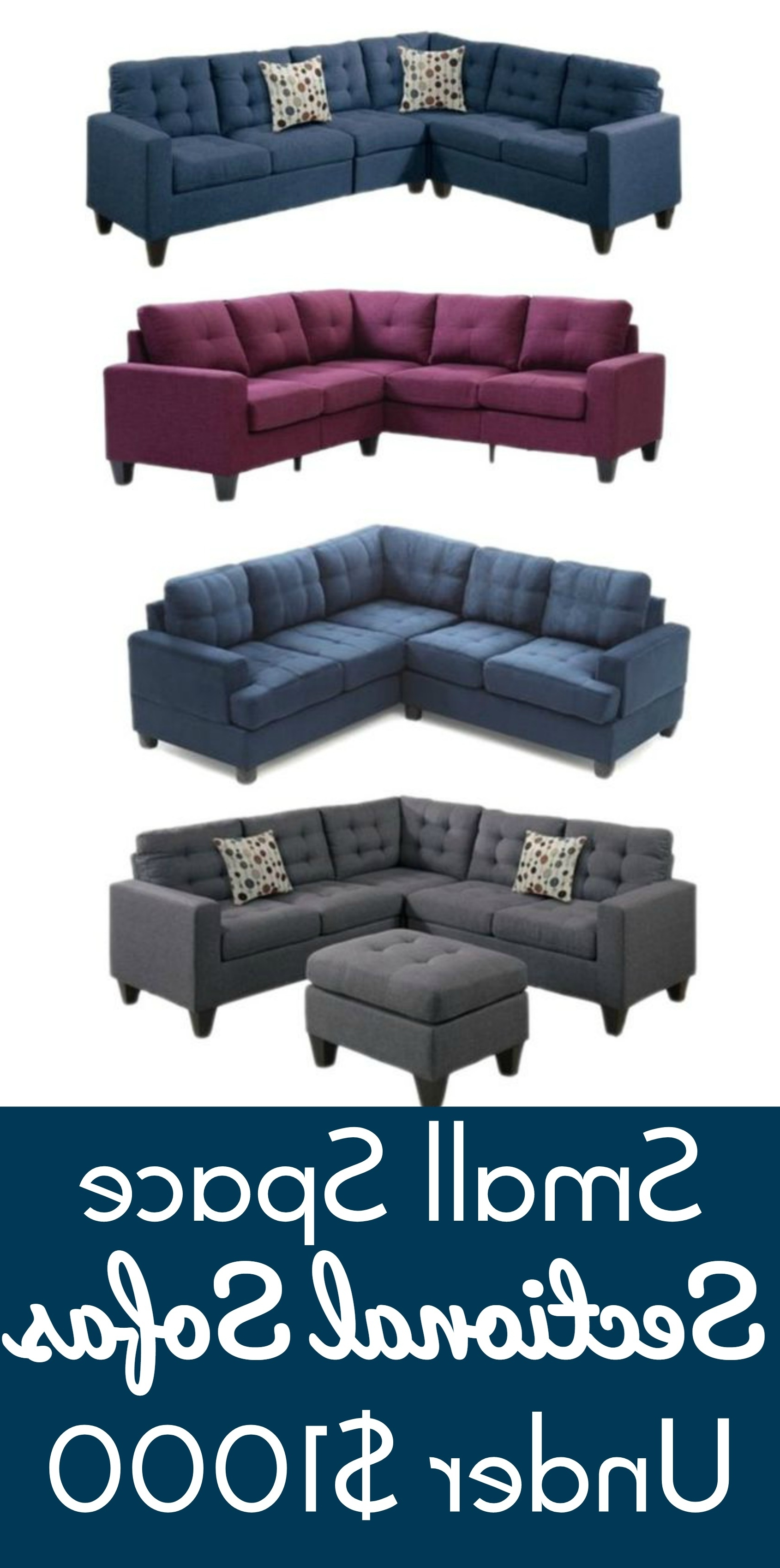 Well Liked Small Spaces Sectional Sofas For Small Space Sectional Sofas Under $ (View 18 of 20)