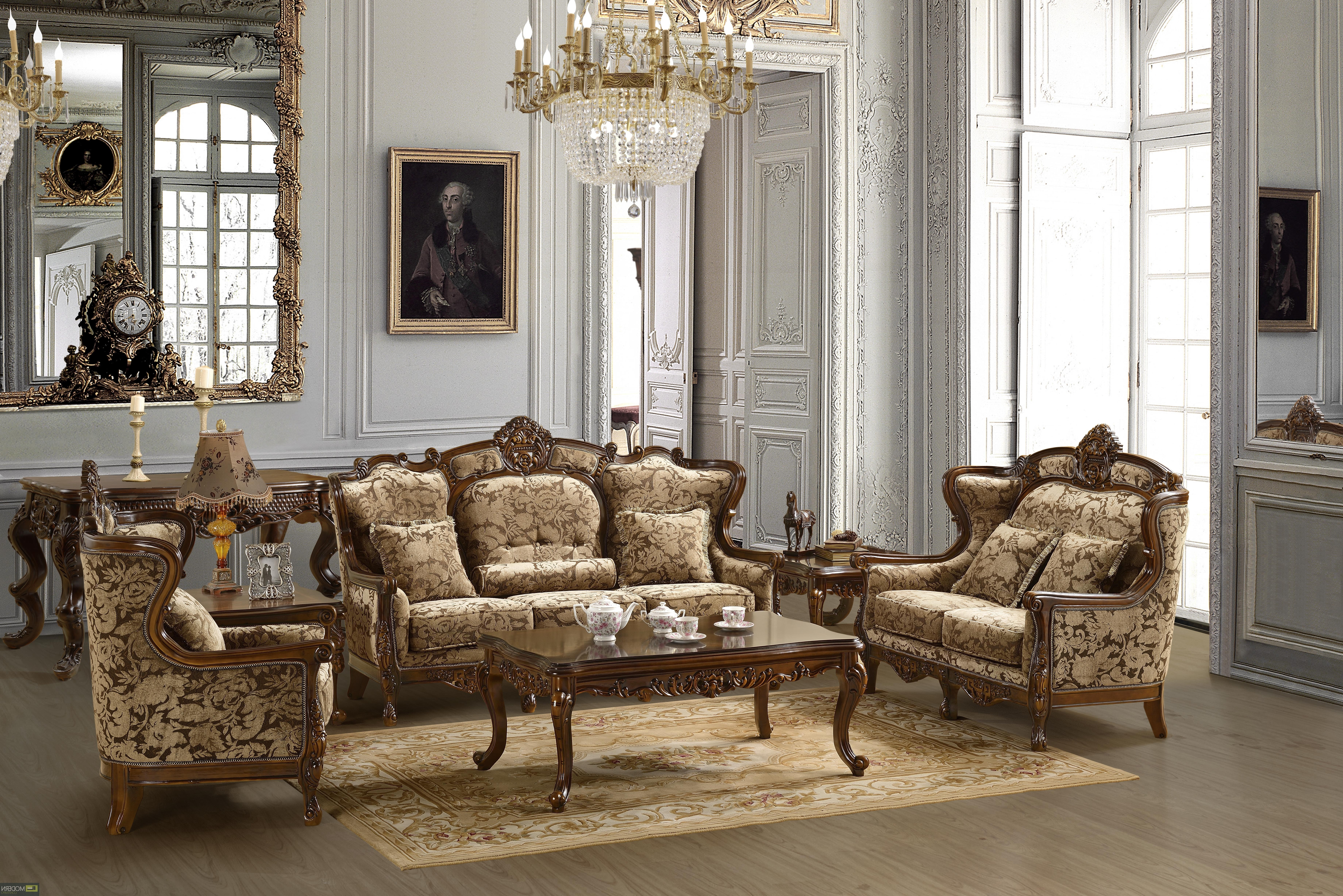 Well Liked Sofa Set Formal Living Room Furniture Mchd839 Pertaining To Traditional Sofas And Chairs (View 5 of 20)