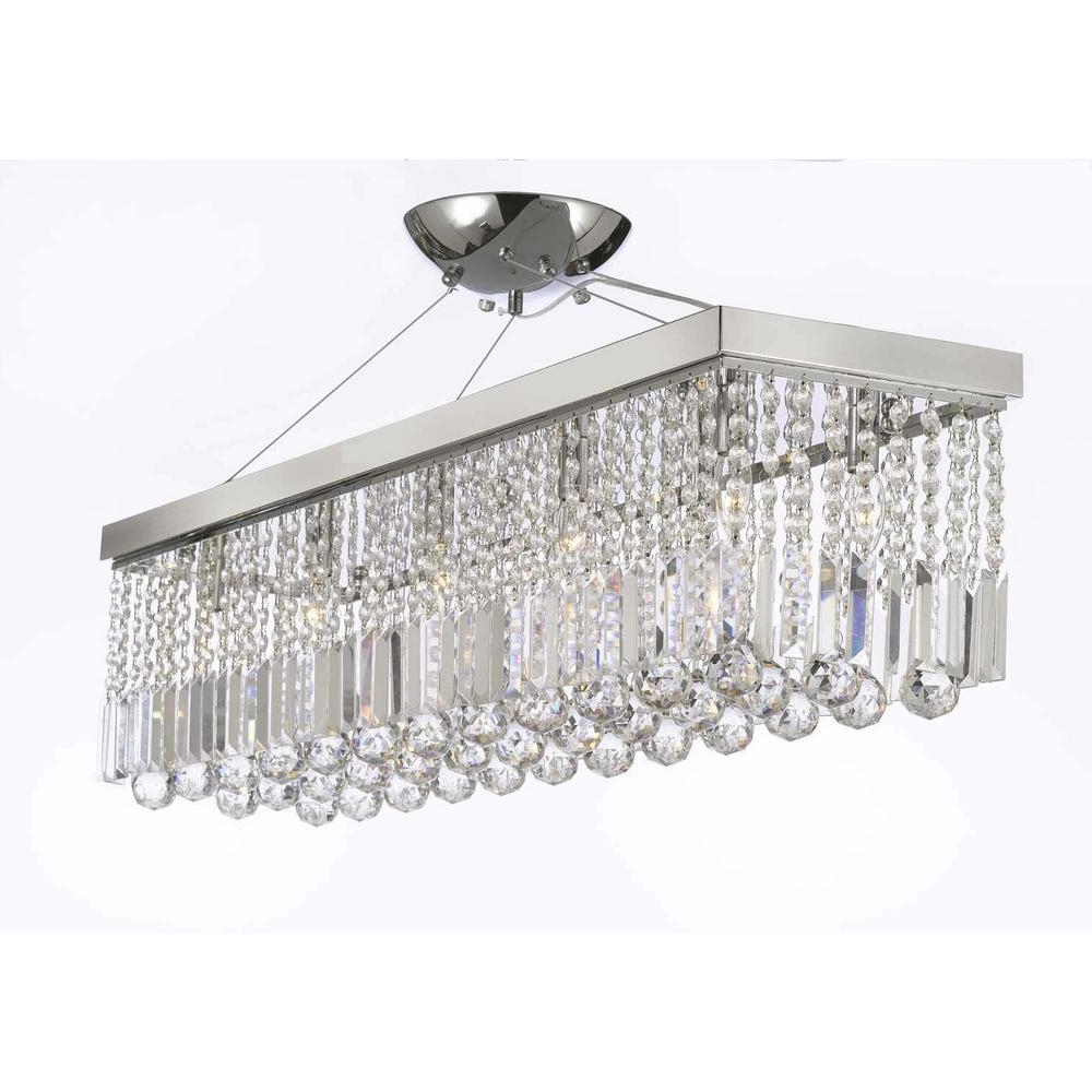 Well Liked Sparkly Chandeliers Throughout Crystal – Chandeliers – Lighting – The Home Depot (View 19 of 20)