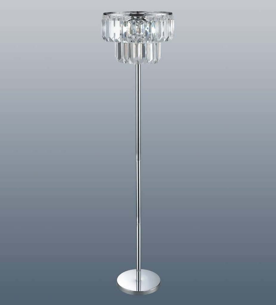 Well Liked Tall Standing Chandelier Lamps Regarding Standing Chandelier Floor Lamp Home Design Ideas Pertaining To  (View 19 of 20)